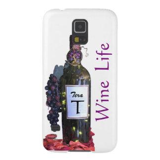 Capinha Galaxy S5 A vida glamoroso do vinho de um Div