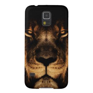 Capinha Galaxy S5 Arte africana da cara do leão