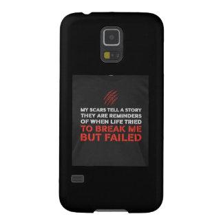 Capinha Galaxy S5 As cicatrizes dizem uma história