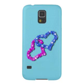 Capinha Galaxy S5 Azul de Samsung s5 do amor do coração da coroa
