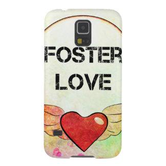 Capinha Galaxy S5 Coração adoptivo da aguarela do amor