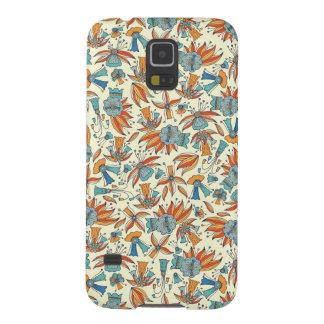 Capinha Galaxy S5 Design floral abstrato do teste padrão