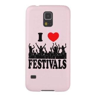 Capinha Galaxy S5 Eu amo os festivais (o preto)