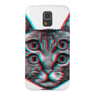Capinha Galaxy S5 Gato 3d, 3d gato, gato preto e branco