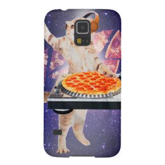 Capinha Galaxy S5 gato do DJ - gato DJ - gato do espaço - pizza do