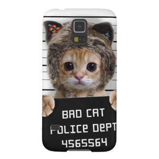 Capinha Galaxy S5 gato do mugshot - gato louco - gatinho - felino