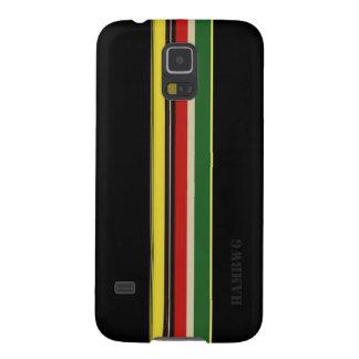 Capinha Galaxy S5 HAMbWG - caso do telemóvel de Samsung - cor preta