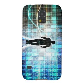 Capinha Galaxy S5 Instrução de Digitas como um conceito Backgroun da