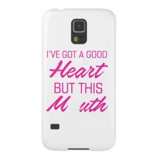 Capinha Galaxy S5 I've obteve um bom coração mas esta boca