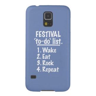 Capinha Galaxy S5 Lista do tumulto do ` do festival' (branca)