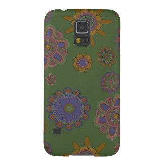 Capinha Galaxy S5 Malva & flores do ouro