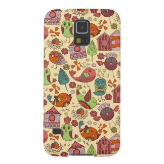 Capinha Galaxy S5 Mão colorida abstrata design floral tirado do