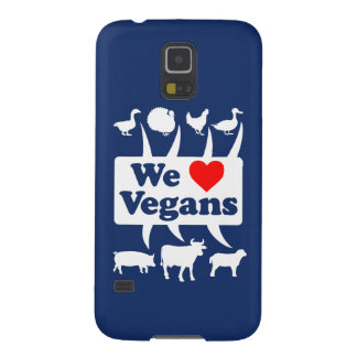 Capinha Galaxy S5 Nós amamos os Vegans II (brancos)