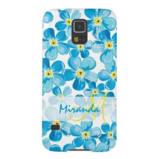 Capinha Galaxy S5 O azul vibrante da aguarela esquece-me não nome