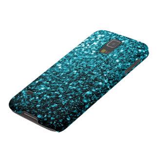 Capinha Galaxy S5 O brilho azul do Aqua sparkles a galáxia S5 de