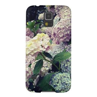 Capinha Galaxy S5 O Hydrangea azul cor-de-rosa das flores floresce