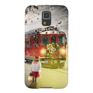Capinha Galaxy S5 O papai noel expresso do Pólo Norte - trem do