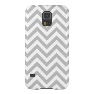 Capinha Galaxy S5 O ziguezague cinzento e branco listra o teste