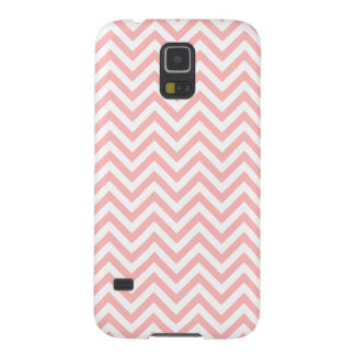 Capinha Galaxy S5 O ziguezague cor-de-rosa e branco listra o teste