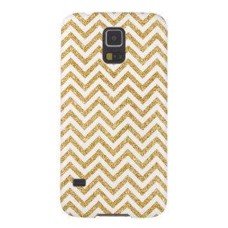 Capinha Galaxy S5 O ziguezague do brilho do ouro branco listra o