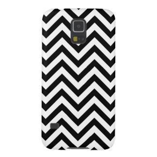 Capinha Galaxy S5 O ziguezague preto e branco listra o teste padrão
