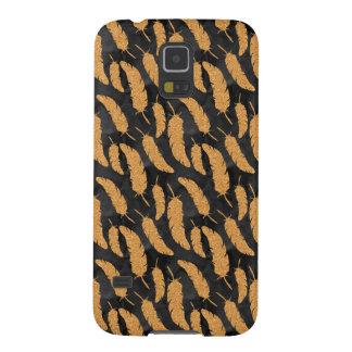 Capinha Galaxy S5 Penas do ouro