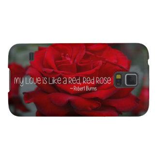 Capinha Galaxy S5 Samsung S5, mal encaixota minha rosa vermelha do