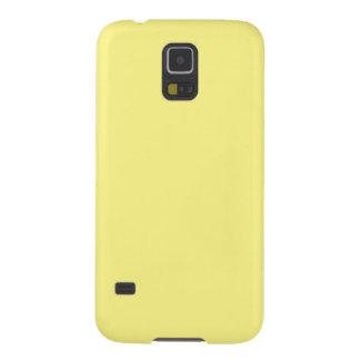 Capinha Galaxy S5 Sólido Pastel pálido cremoso do amarelo de