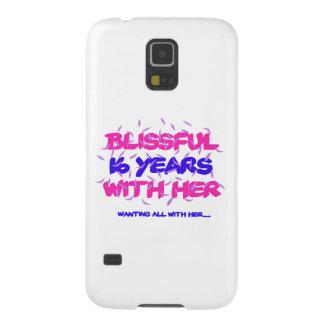Capinha Galaxy S5 Tendendo o 16o design do aniversário do casamento