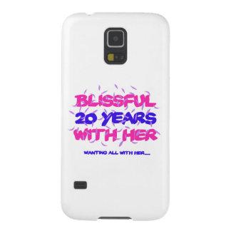 Capinha Galaxy S5 Tendendo o 20o design do aniversário do casamento