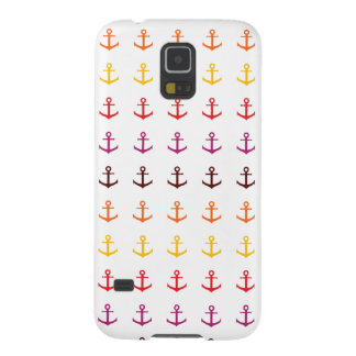 Capinha Galaxy S5 Teste padrão colorido da âncora