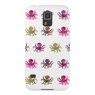 Capinha Galaxy S5 Teste padrão colorido do polvo