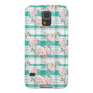 Capinha Galaxy S5 Teste padrão cor-de-rosa das flores bonitas do