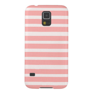 Capinha Galaxy S5 Teste padrão cor-de-rosa e branco das listras