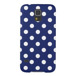 Capinha Galaxy S5 Teste padrão de bolinhas dos azuis marinhos e do
