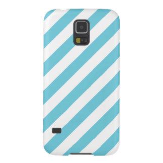 Capinha Galaxy S5 Teste padrão diagonal azul e branco das listras