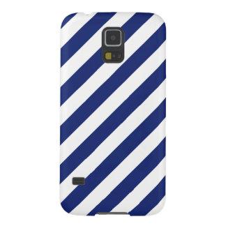 Capinha Galaxy S5 Teste padrão diagonal do azul marinho e o branco
