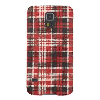 Capinha Galaxy S5 Teste padrão vermelho e preto da xadrez
