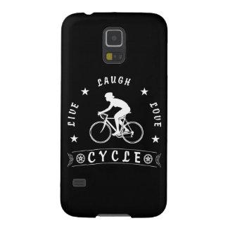 Capinha Galaxy S5 Texto da Vida Riso Amor Ciclo da senhora (branco)