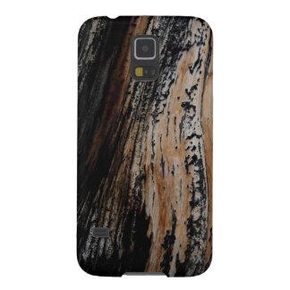 Capinha Galaxy S5 Textura queimada do latido de árvore