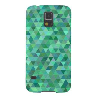 Capinha Galaxy S5 Triângulos verdes Pastel