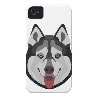 Capinha iPhone 4 A ilustração persegue o rouco Siberian da cara