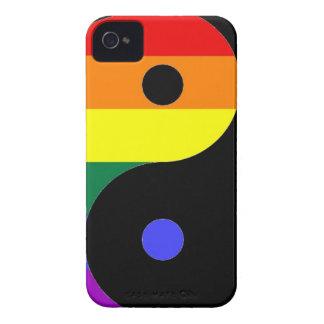 Capinha iPhone 4 Arco-íris Yin e Yang - cores do arco-íris do