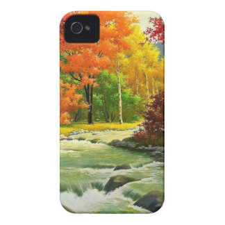 Capinha iPhone 4 Árvores do outono pelo rio