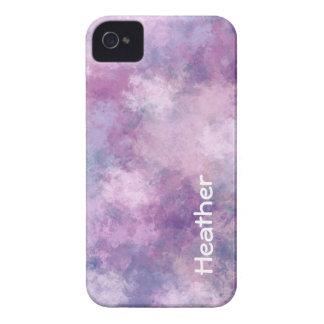 Capinha iPhone 4 Azul, Lilac e rosa feitos sob encomenda do