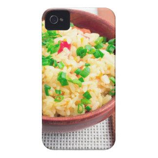 Capinha iPhone 4 Bacia de madeira de arroz e de alho-porro