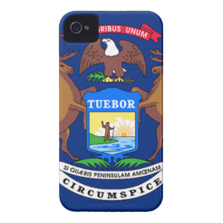 Capinha iPhone 4 Bandeira de Michigan