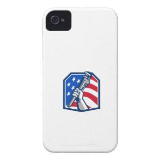 Capinha iPhone 4 Bandeira dos EUA da chave de tubulação da mão do