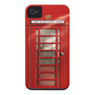 Capinha iPhone 4 Caixa de telefone vermelha britânica personalizada