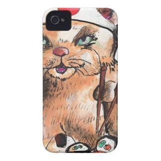 Capinha iPhone 4 cat eating sushi